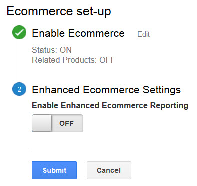 Enhanced Analytics Off for Bigcommerce