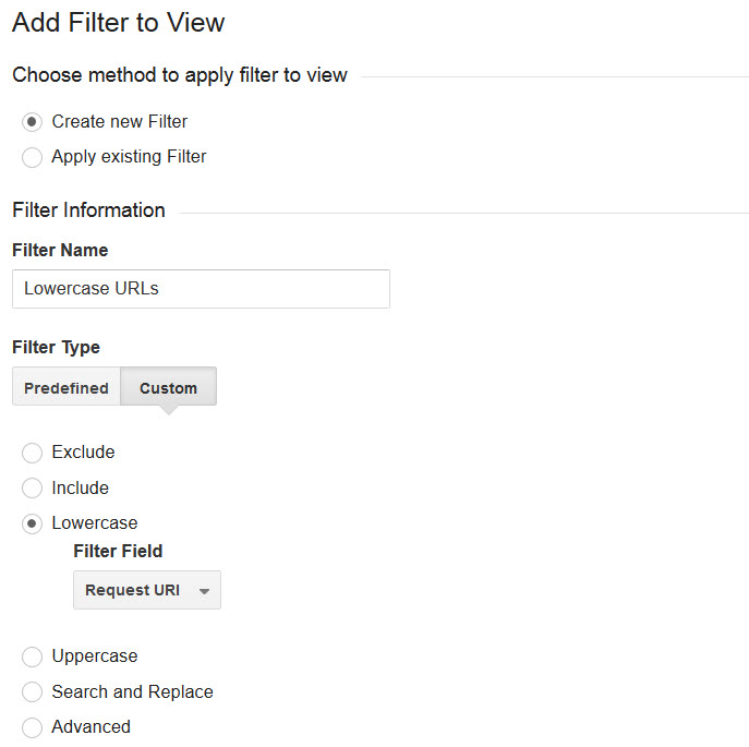 Google Analytics Lowercase Filter for Bigcommerce Store