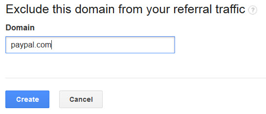 Exclude PayPal.com Domain Referrals